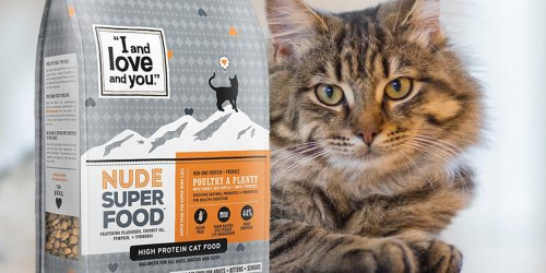 """""""I and love and you"""" Dry Cat Food 5-Pound Bag Only $6.65 Shipped at Amazon (Regularly $16)"""