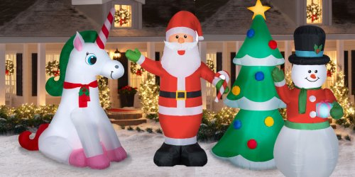 9′ Christmas Inflatables Only $29 at Walmart | Unicorn, Santa & More