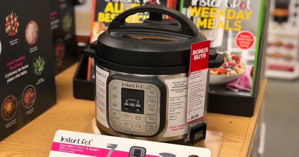 instant pot sitting on store display