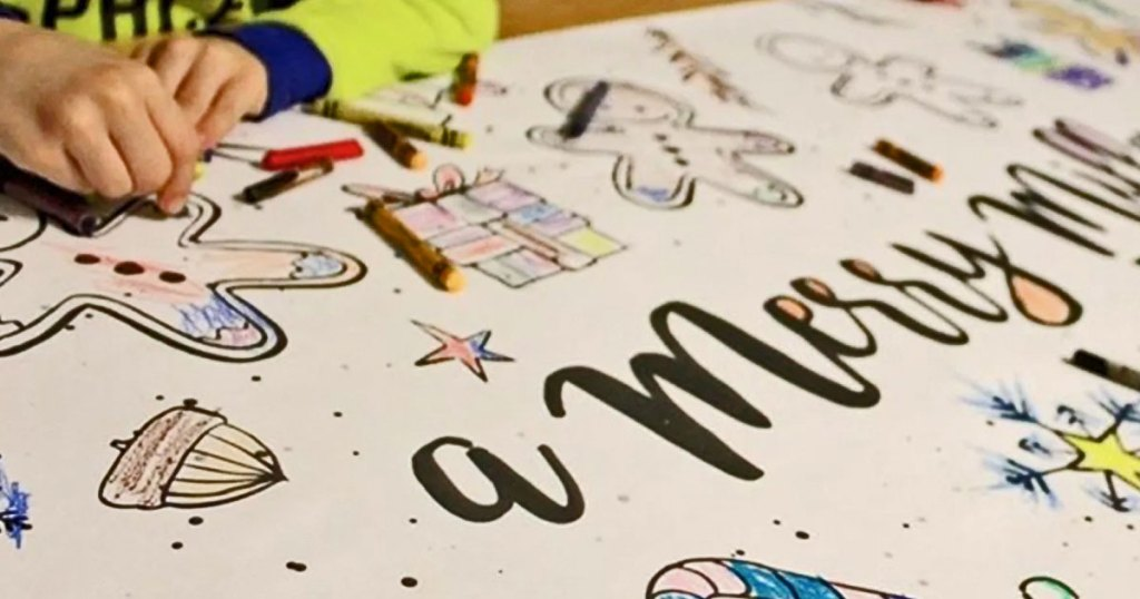 Personalized Table Top Coloring Banner