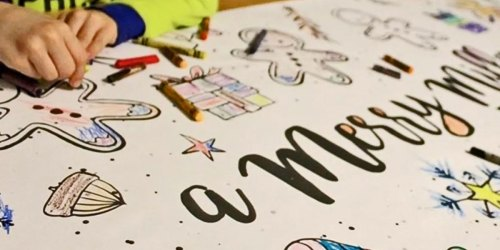 Personalized Table Top Coloring Banners as Low as $10.48 Shipped | Christmas, Birthdays & More
