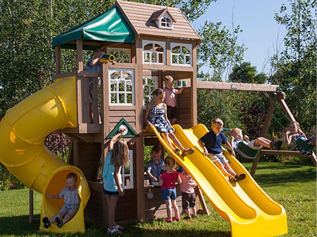 KidKraft Lookout Lodge Swing Set