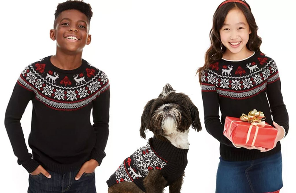 boys girls dog fair isle sweater collection macy's
