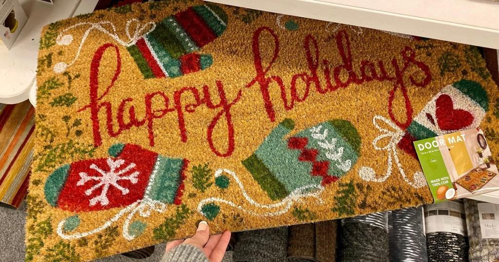 kohls holiday door mat