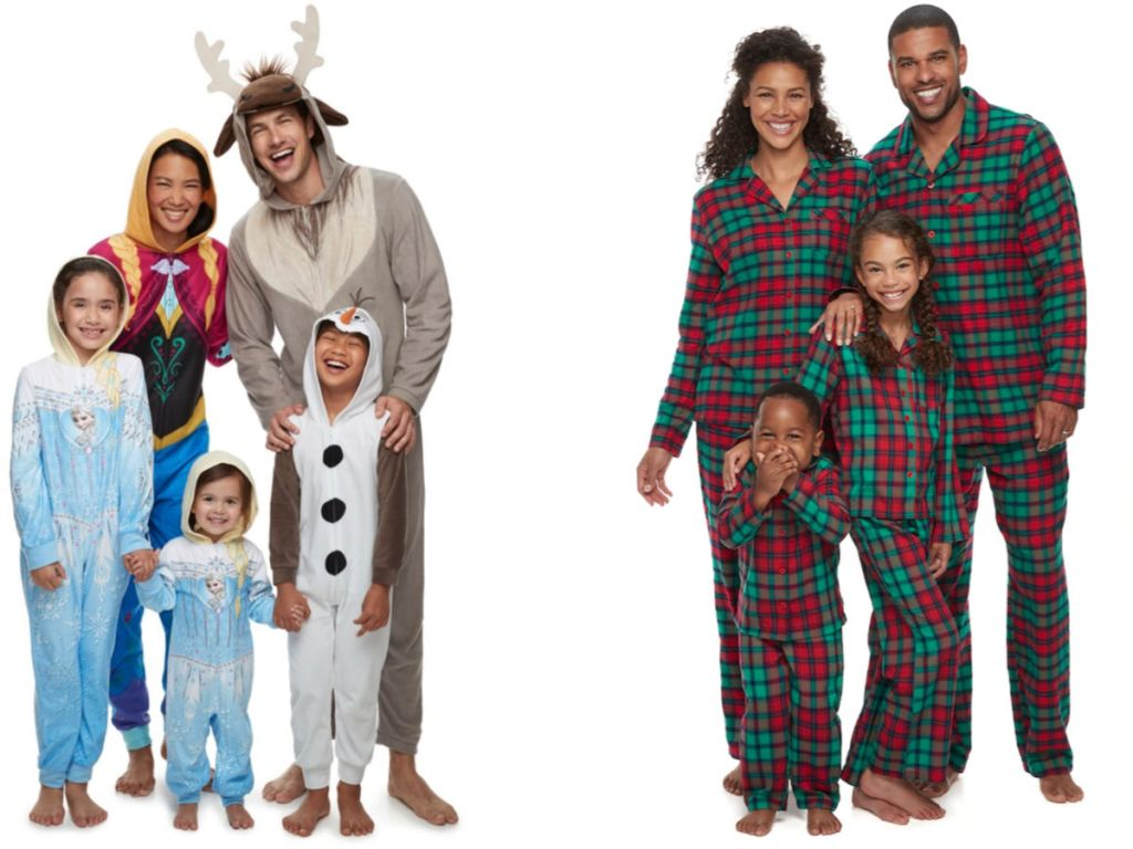 Kohls frozen and plaid matching pajamas