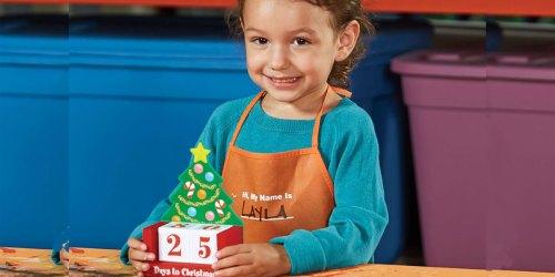 Register Now for Free Home Depot Kids Workshops | Christmas Countdown Calendar