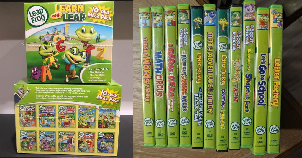 Learn with Leap 10 dvd mega pack