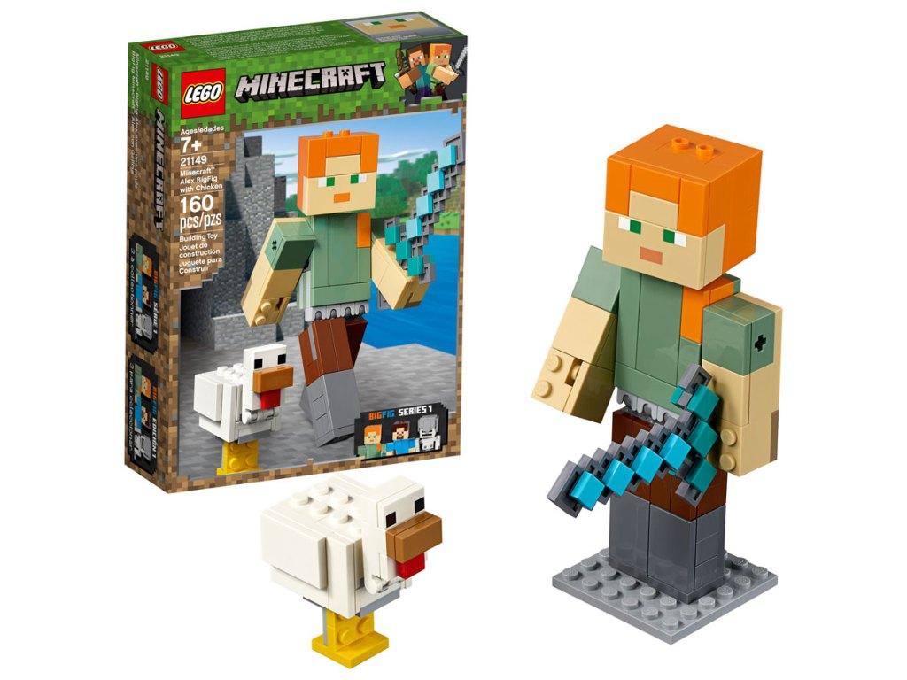 LEGO Minecraft Alex BigFig with Chicken 21149 Building Kit