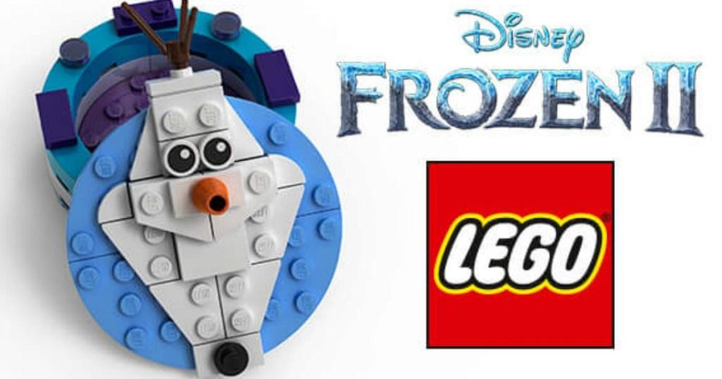 lego box made into snowman