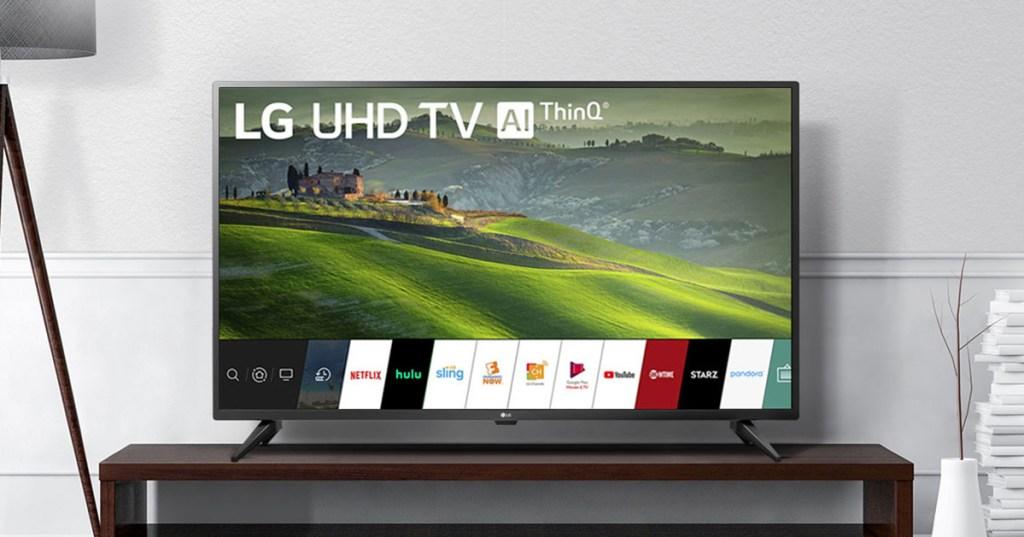 LG UHD TV in living room