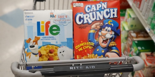 New $1/2 Quaker Cereals Printable Coupon = Cereal Only $1.38 Each at Rite Aid