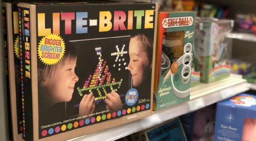 lite brite toy sitting on store shelf