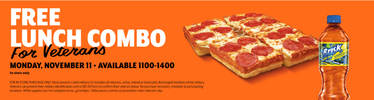 Little Caesar's Veteran's Day offer