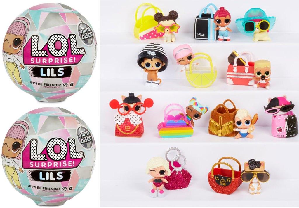 L.O.L. Surprise! Lils Winter Disco Series with 5 Surprises stock images