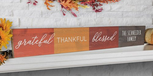 Personalized Fall & Christmas Tabletop Signs as Low as $16.99 Shipped