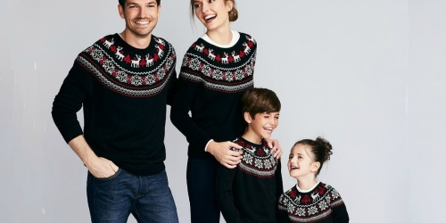 50% Off Family Sweaters at Macy's | Including Pets