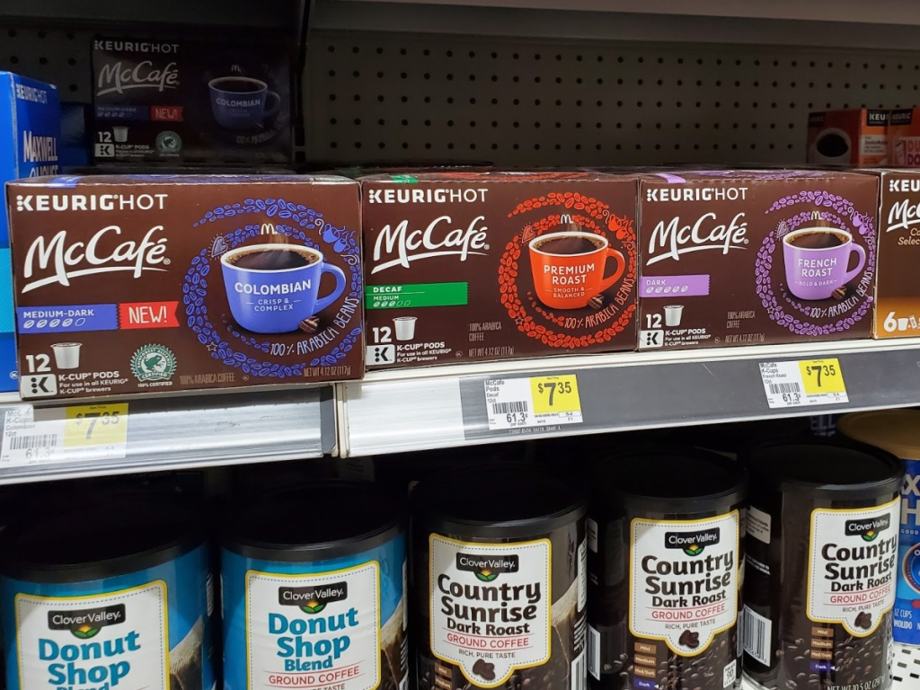 Mccafe K-Cups on Shelf at Dollar General
