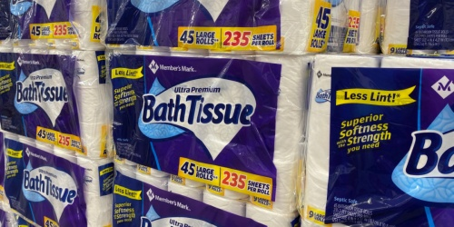HUGE 45-Pack of Member's Mark Bath Tissue Only $16.98 After Cash Back at Sam's Club