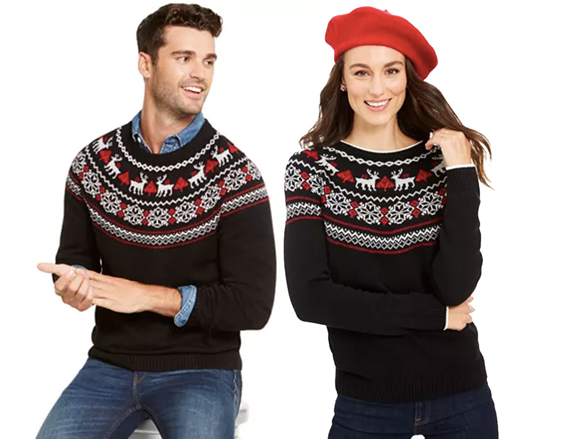 men's women's fair isle sweater macy's