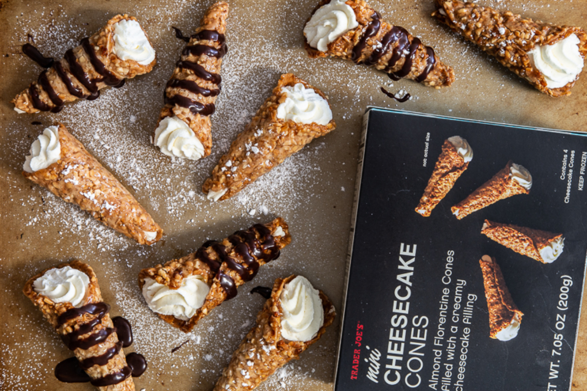 Trader Joe's Mini Cheesecake Cones