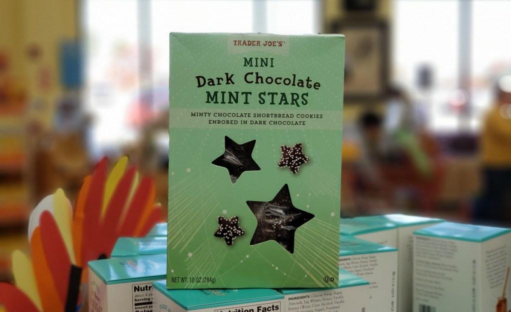 Mini Dark Chocolate Mint Stars at Trader Joe's