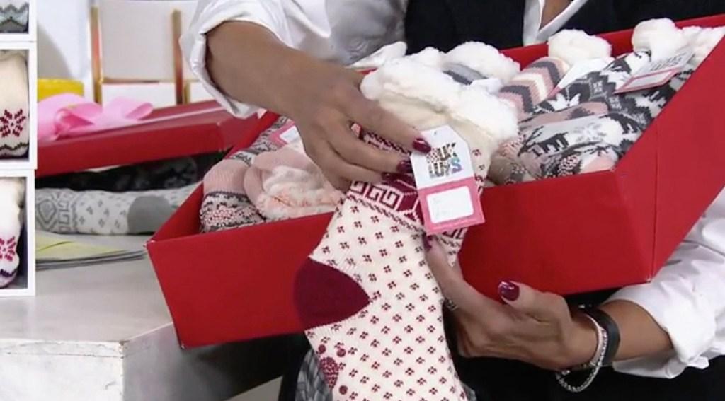 Muk Luk Socks in a box
