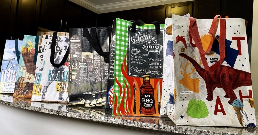 Reusable shopping bags from Trader Joe's