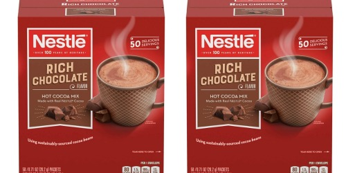 Nestle Hot Cocoa Mix 50-Pack Only $5.62 Shipped at Amazon (Just 11¢ Each)