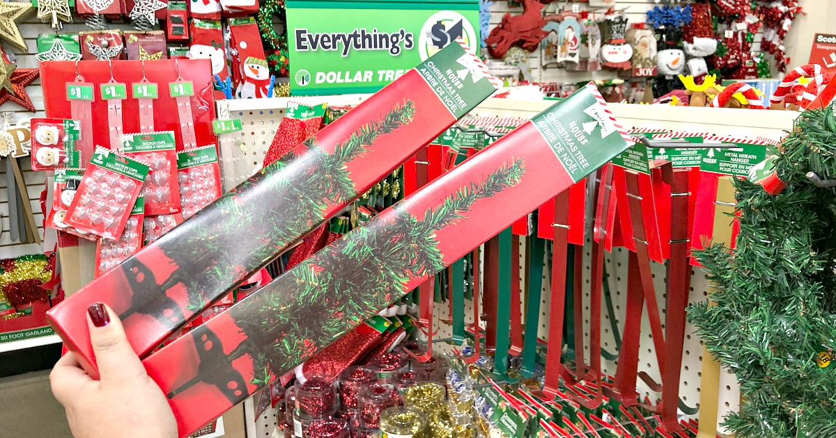 one dollar christmas trees from dollar tree