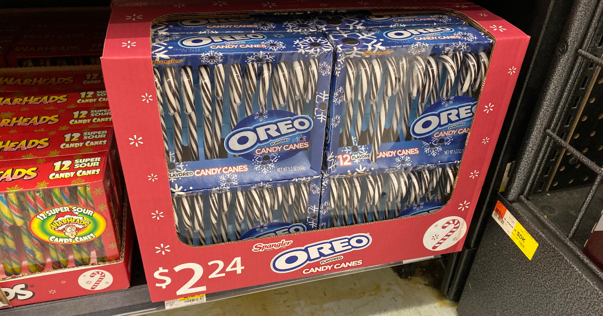 Boxes of Oreo candy canes at Walmart