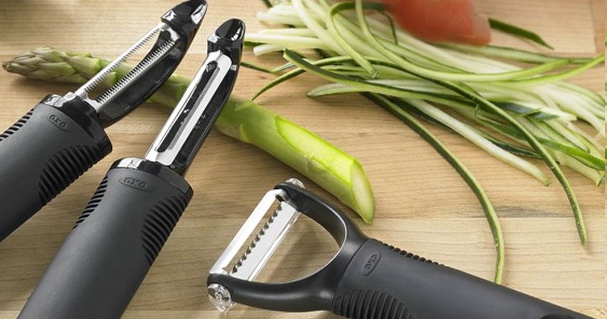 peelers on a cutting board
