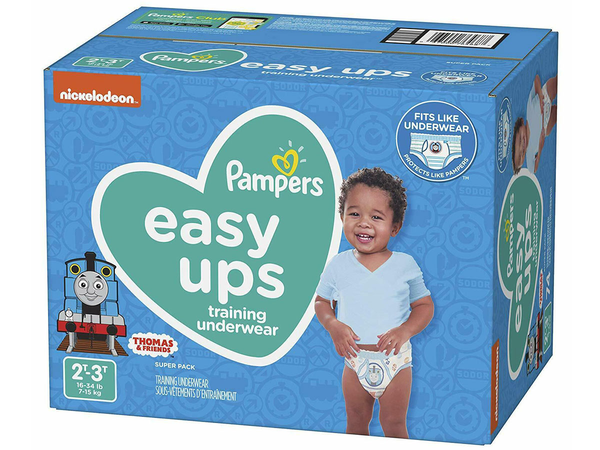 Pampers Easy Ups Pull On Disposable Potty Training Underwear for Boys, Size 4, 2T-3T 140 Count