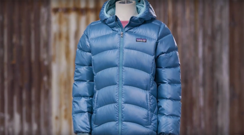 Patagonia girl's down hooded jacket