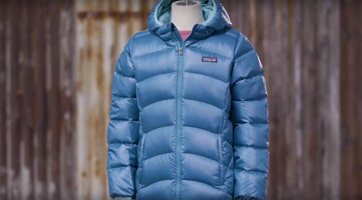Patagonia girl's down hooded jacket