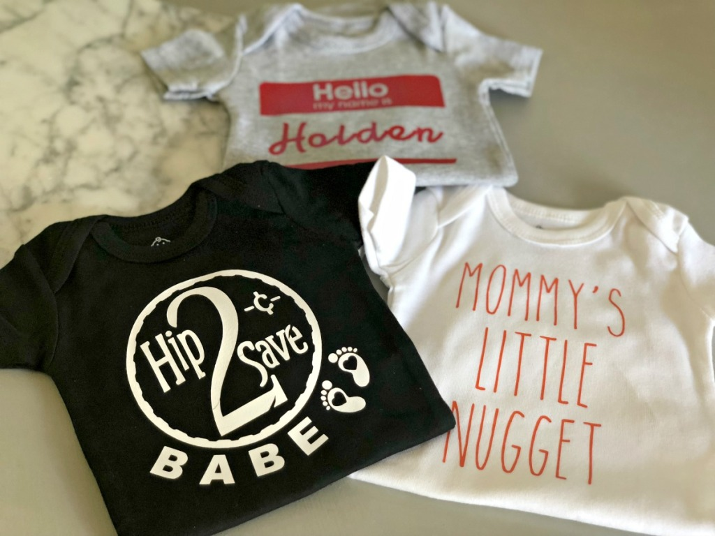 personalized onesie using cricut