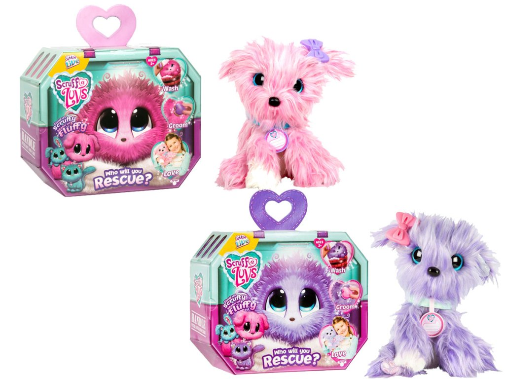 little live scruff and me rescue pet in pink and purple