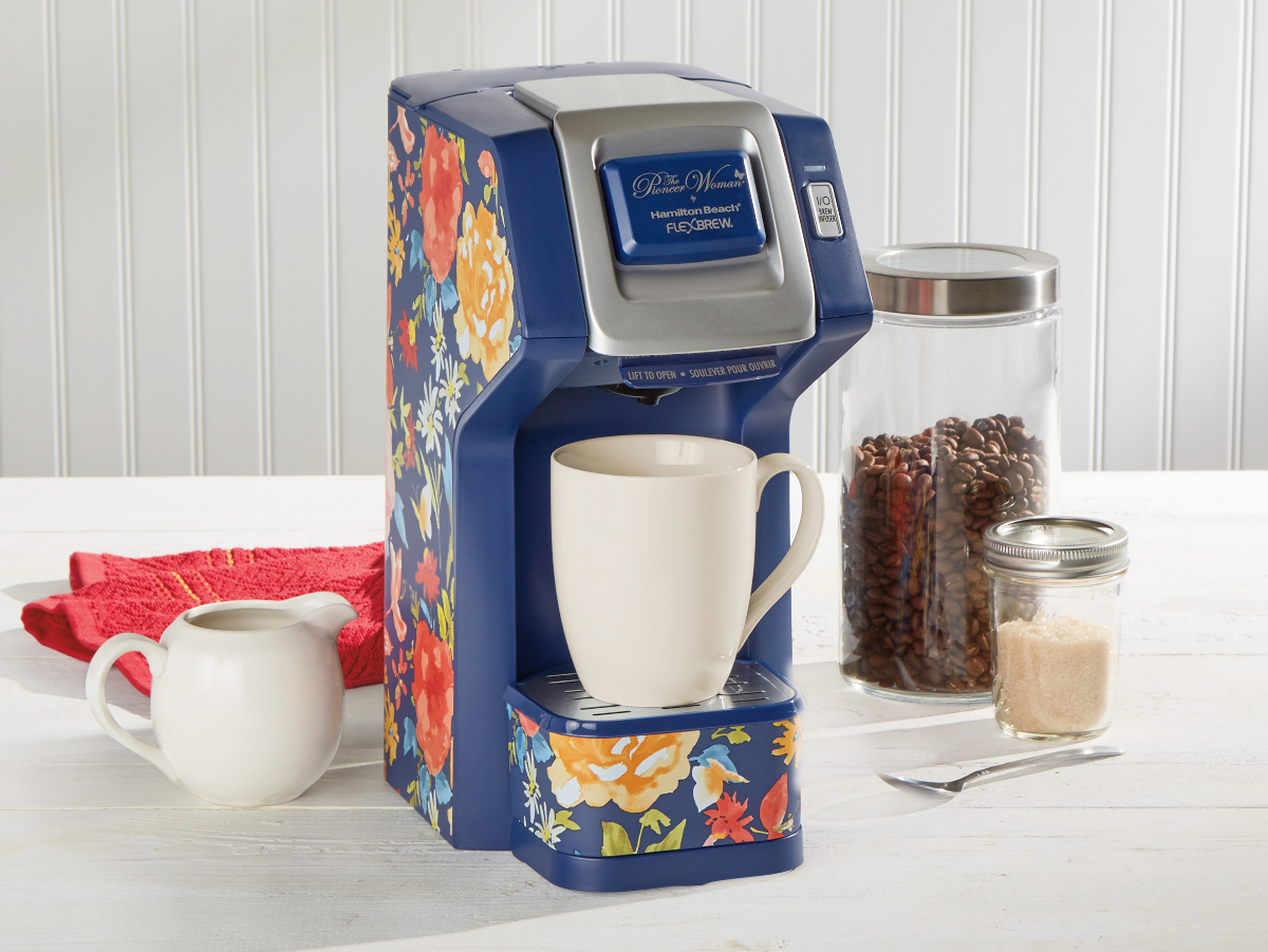 Pioneer Woman Fiona Floral FlexBrew Single-Serve Coffee Maker by Hamilton Beach,
