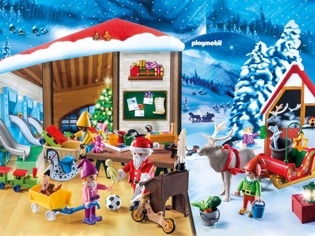santa workshop scene from the advent calendar