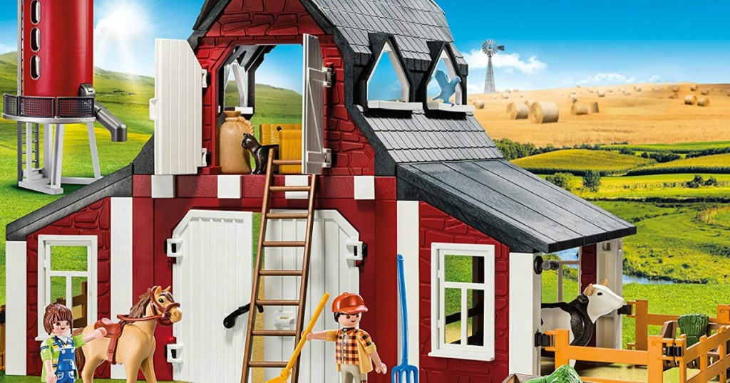 little toy barn and farm animals