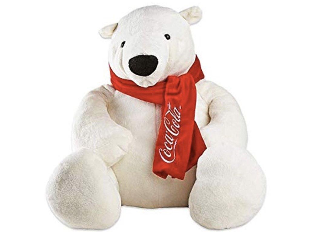 Coca Cola Polar Bear Instant Win Game plush bear
