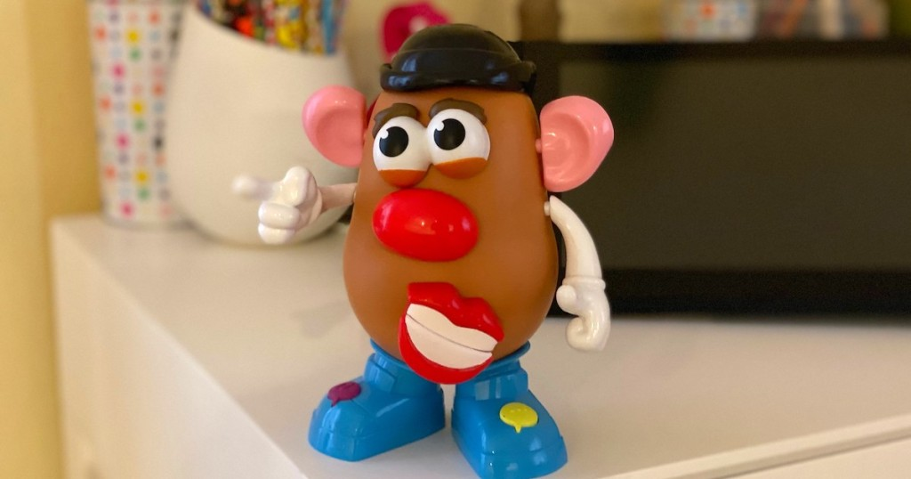 mr potato head with moving lips on desk
