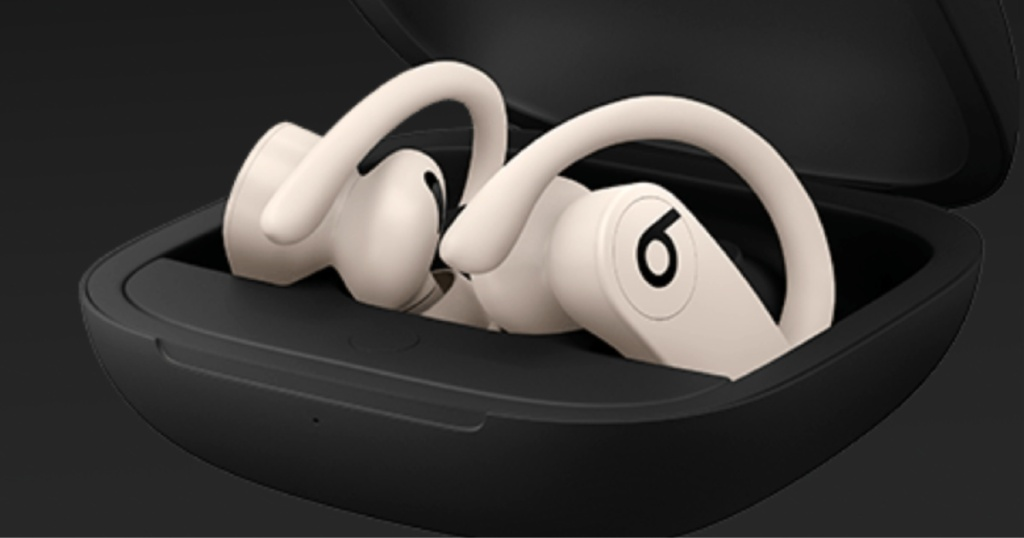 white powerbeats in black carrying case