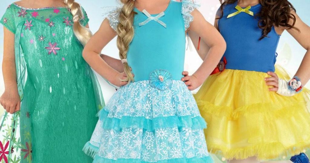 little girls wearing pretty dresses
