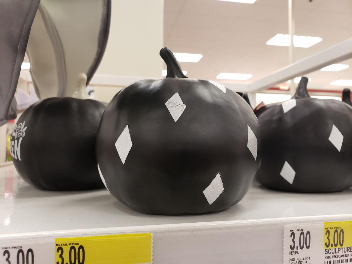 Diamond Black Foam pumpkin at Target