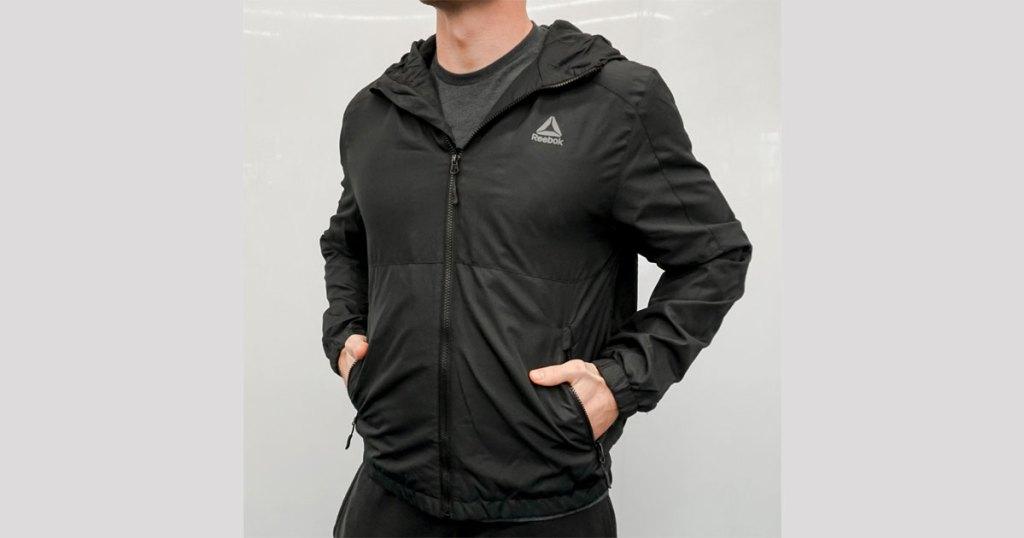 reebok men's fleece lined jacket