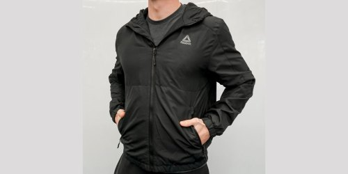 Reebok Men's Fleece Lined Windbreaker Jacket Only $28.89 Shipped