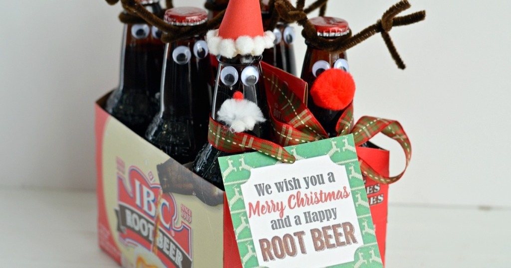 root beer gift reindeer craft