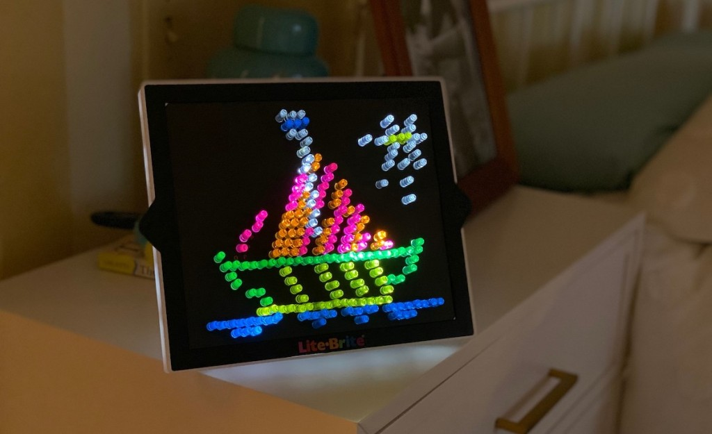 lite brite sailboat lights and template