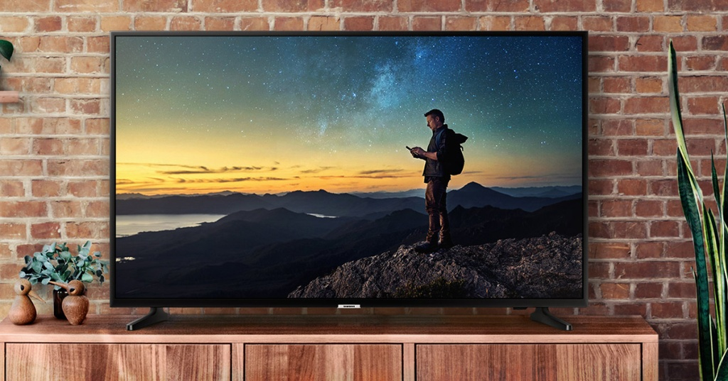 Samsung Smart TV on cabinet