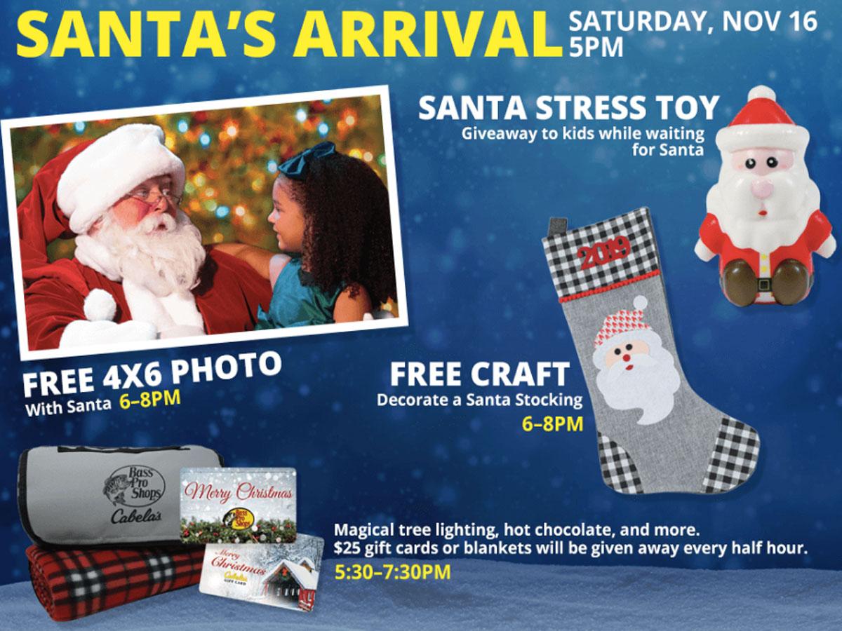 Santa free photo bass pro shops